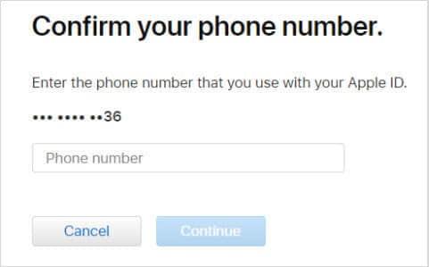 reset apple id password 2
