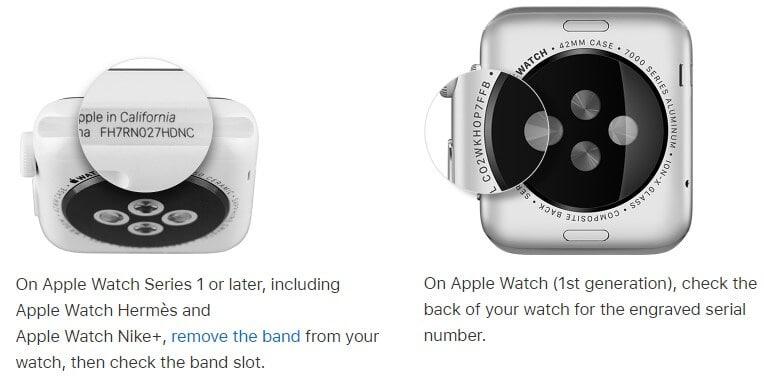 check apple watch imei