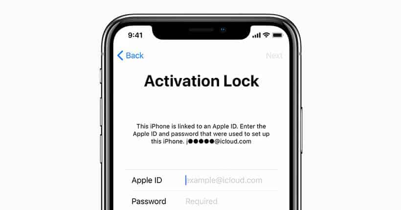 ios13 activation lock