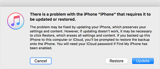 itunes iphone recovery mode