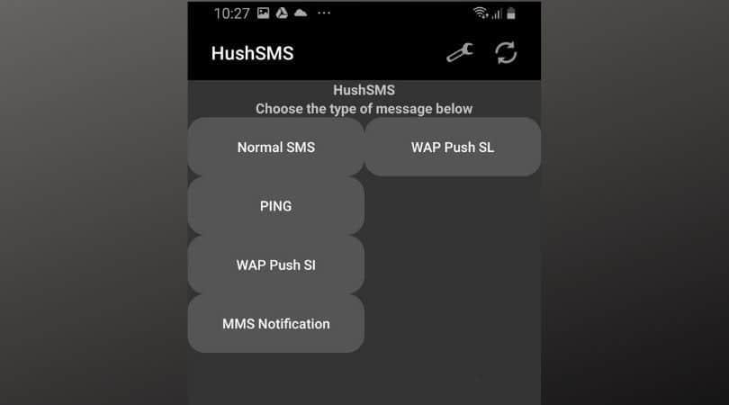hushsms app