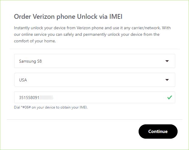 order samsung verizon unlock