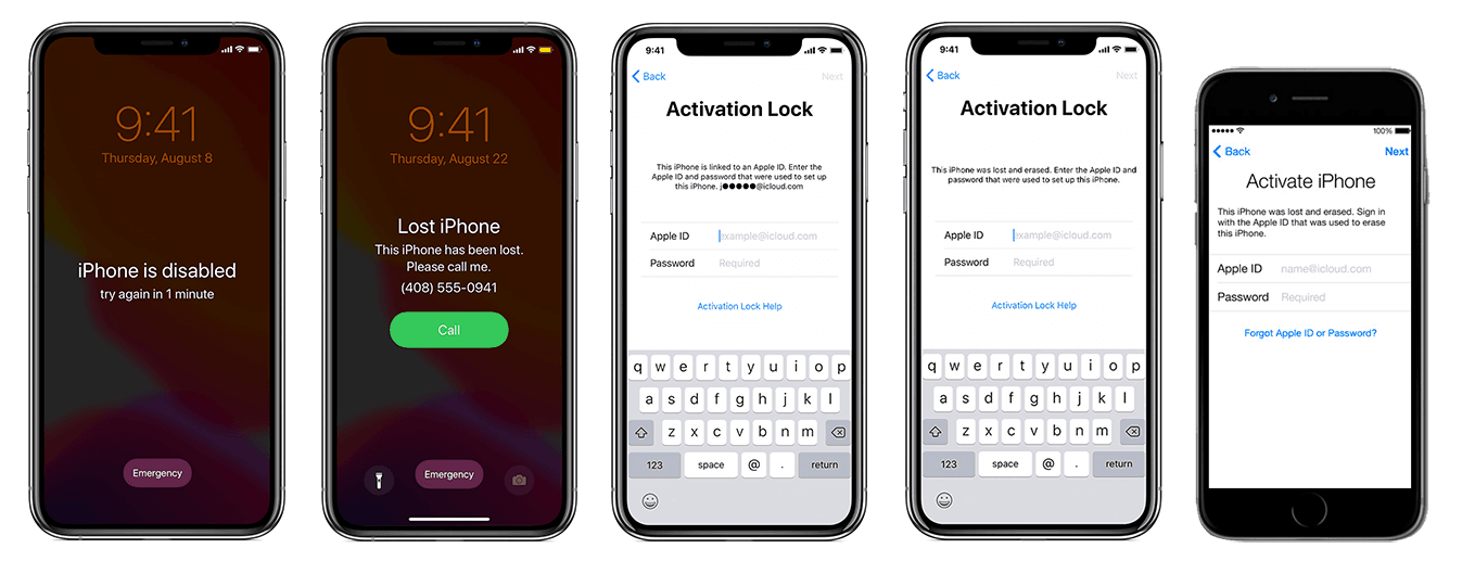 activation lock screens