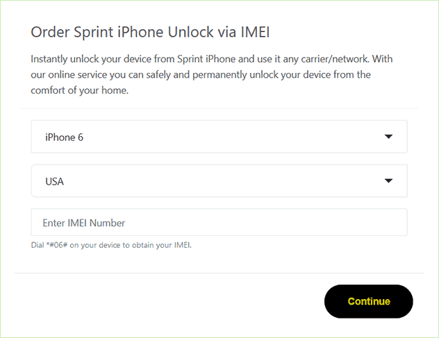 unlock sprint iphone imei