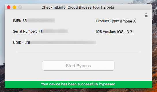checkm8 icloud bypass done