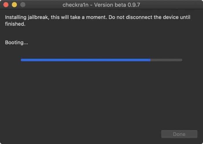 checkra1n installing jailbreak