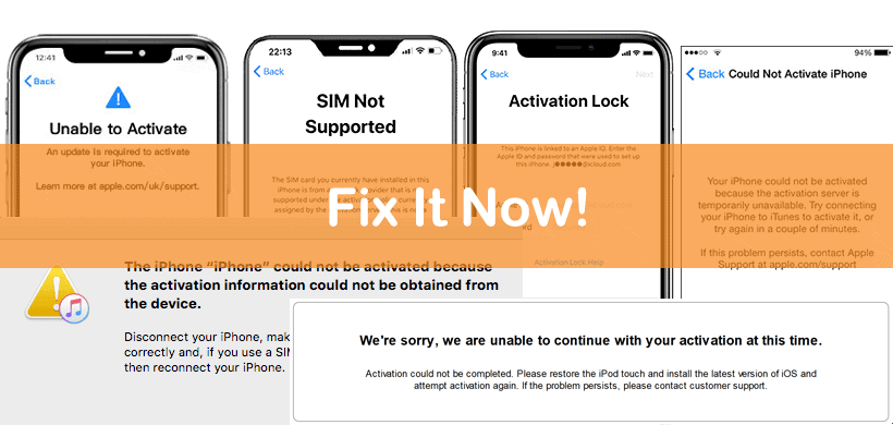 Unable to Activate iPhone Errors: 10 Fixes that 100% Work!