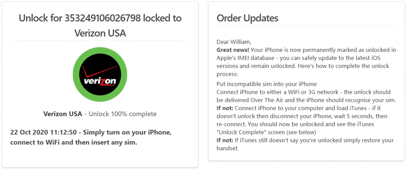 verizon iphone11 unlocked