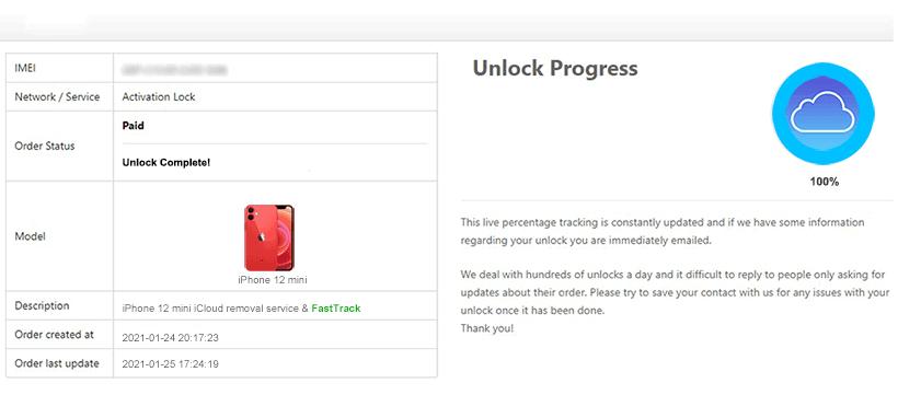 icloud unlock complete iphone 12 mini