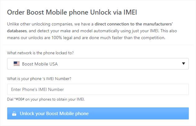 order boost mobile phone unlock