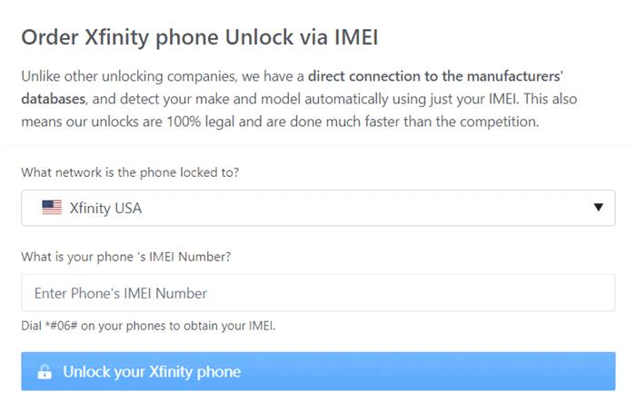 directunlocks order xfinity unlock